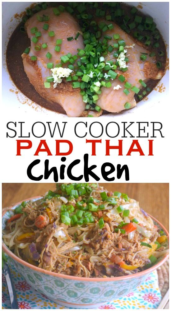 Slow Cooker Pad Thai Chicken - Make The Best of Everything