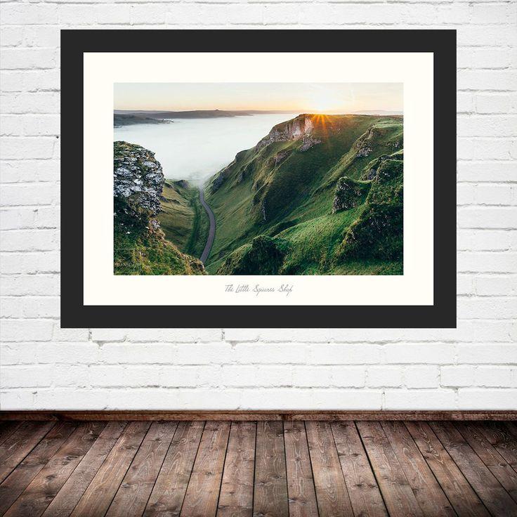 Winnats Pass, Castleton, Derbyshire. Peak District Sunrises and cloud inversions are best sought in Autumn months. #peakdistrict #landscape #photo #places #visit #explore #outdoors #photography #prints #frames #destinations #wallart