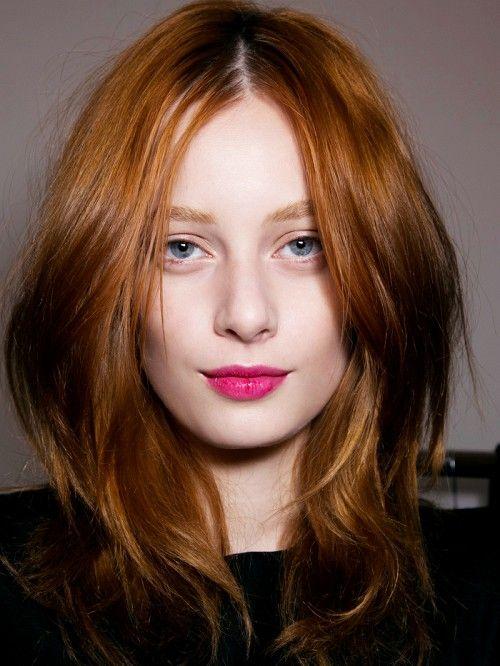hair, lips