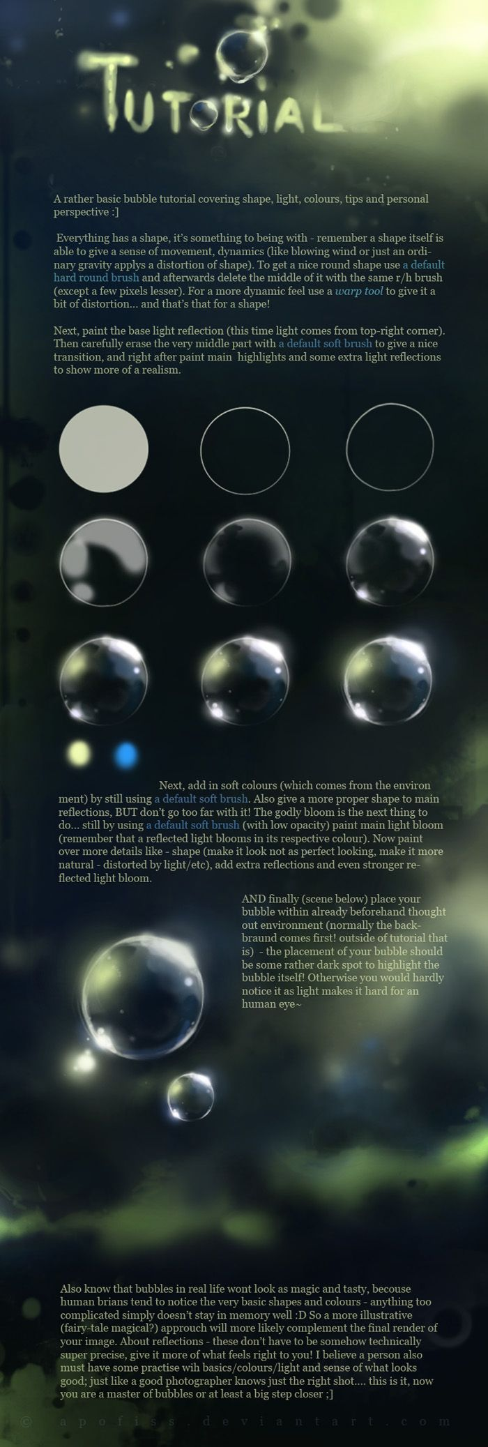 MAGIC bubble tutorial by *Apofiss on deviantART ✤ || CHARACTER DESIGN REFERENCES | キャラクターデザイン | •