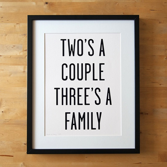 A family of three :) I miss my mom and dad!! :(Family Of Three Quotes, Santhuff Estes, Quotes Signs, Gallery Wall, Baby Shower