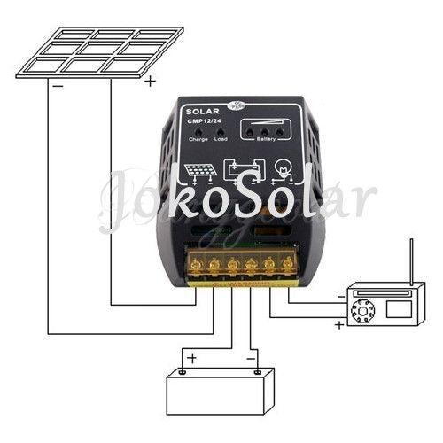 12 V / 24 V 10A células solares carregador de painel regulador controlador de carga da bateria proteção seguro em Sistemas de energia solar de Componentes elétricos no AliExpress.com | Alibaba Group
