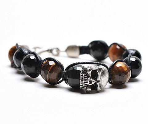 Men's Skull & Bead Bracelet – ONESHOP