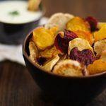 Chips de remolacha, nabo y chirivía