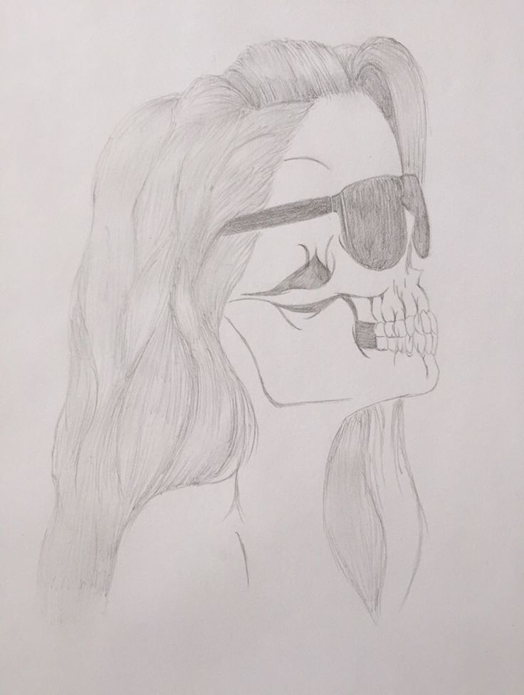 #dibujo #mujer #calavera