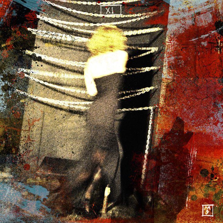 Arcane 11 - La Force - Digital painting and retouch - 60x60 © Monica Seksich