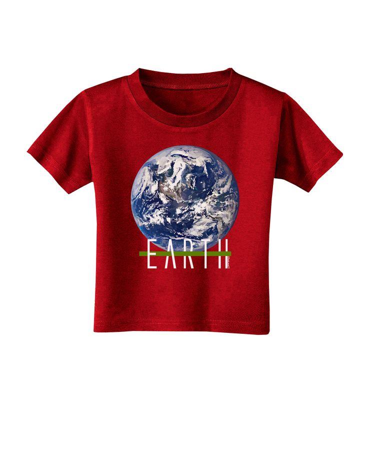 TooLoud Planet Earth Text Toddler T-Shirt Dark