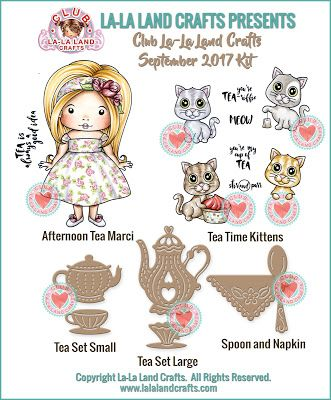 Showcase of the CLUB La-La Land Crafts SEPTEMBER 2017 Kit!  See our blog and website for more information.