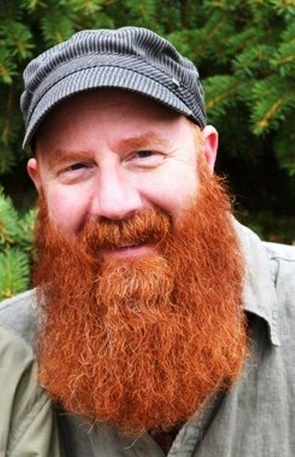 b wow, i think the award for the brightest red beard.