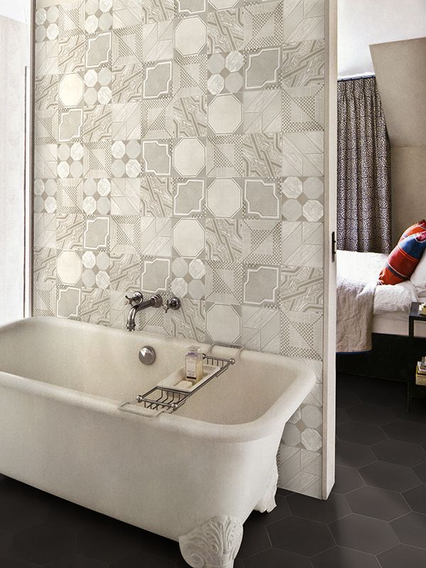 IGattipardi is a glazed porcelain tile series by Italian manufacturer, 14OraItaliana. The IGattipardi series takes its aesthetic cues from the maiolica tiles of Moorish origin that are found across southern Italy. SHOWN: Soft Combination