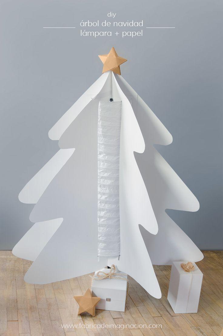 DIY Fábrica de imaginación | DIY Árbol de Navidad de papel | http://www.fabricadeimaginacion.com