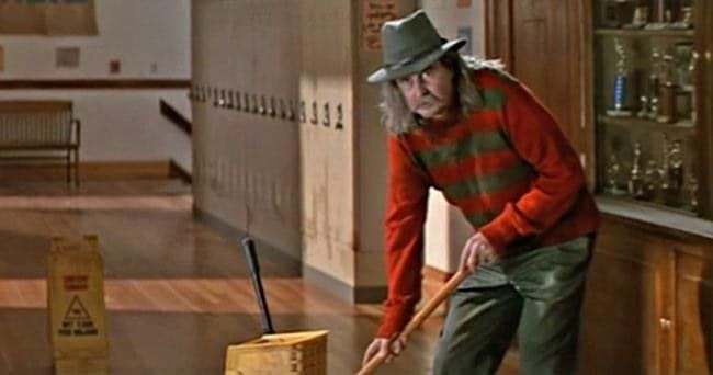 Craven was best known for creating the A Nightmare on Elm Street franchise, so for his cameo, he wore Freddy Krueger's hat and sweater.