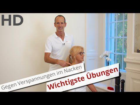 Die wichtigsten Übungen gegen Verspannungen im Nacken // Nackenschmerzen, steifer Nacken, - YouTube