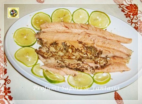 Trota salmonata al forno, ricetta di pesce Blog Profumi Sapori & Fantasia