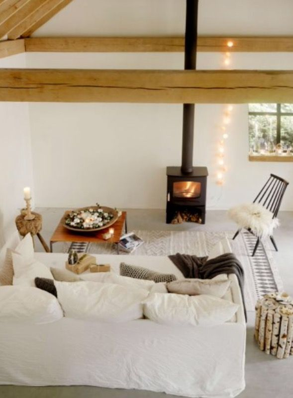 """This very nice Scandinavian living room is from our feature """"Holy Nordic Night"""""""