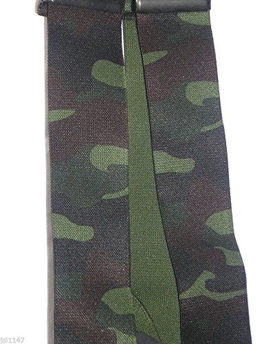 """From 8.99 Mens Braces Brimarc Green Woodland Camo Design Heavy Duty 2"""" 50mm Wide From M.k.tools"""