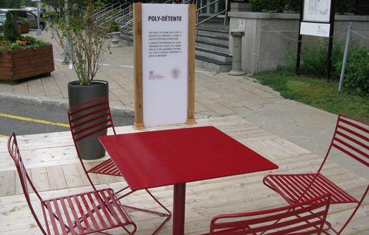 Terrasse «Poly-Détente», École Polytechnique de Montréal