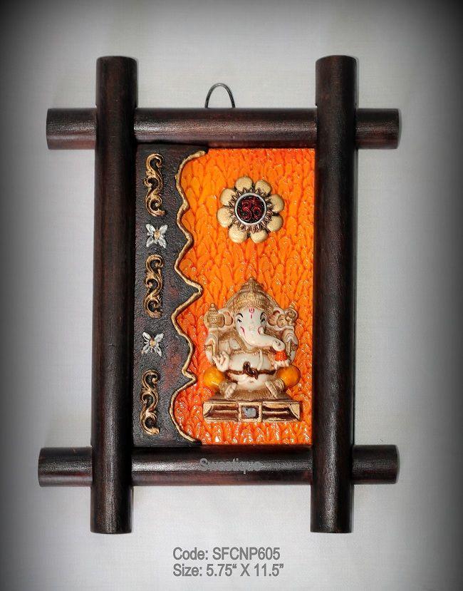 Wooden Ganesh Wall Hanging