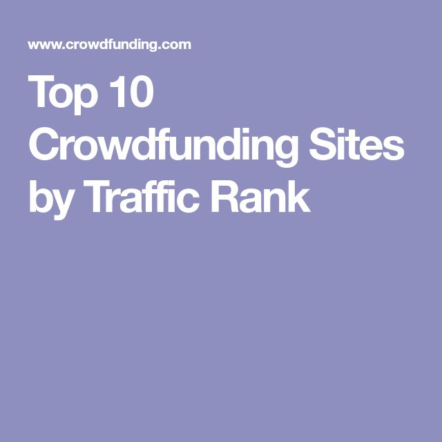 Top 10 Crowdfunding Sites by Traffic Rank