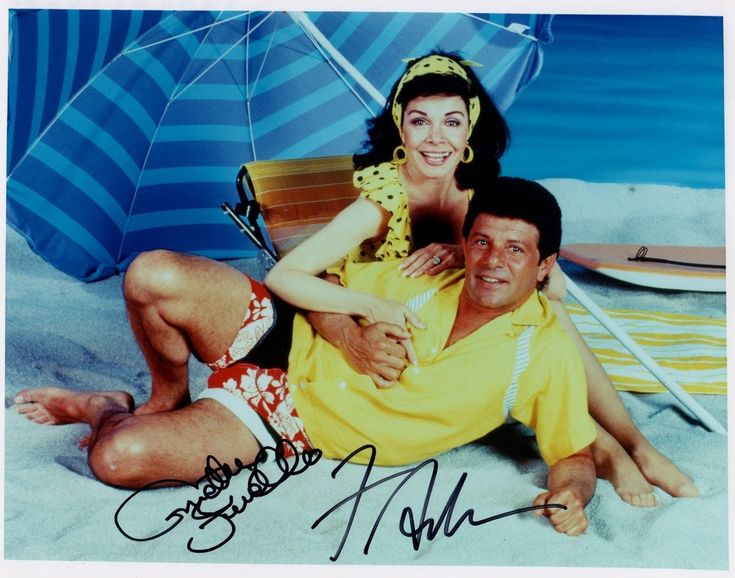 ANNETTE AND FRANKIE IN THE 60'S BEACH MOVIES BEACH PARTY 1963 / MUSCLE BEACH PARTY 1964 / BIKINI BEACH 1964 BEACH BLANKET BINGO 1965 / HOW TO STUFF A WILD BIKINI 1965 8 X 10 COLOR PHOTO SIGNED BY BOTH