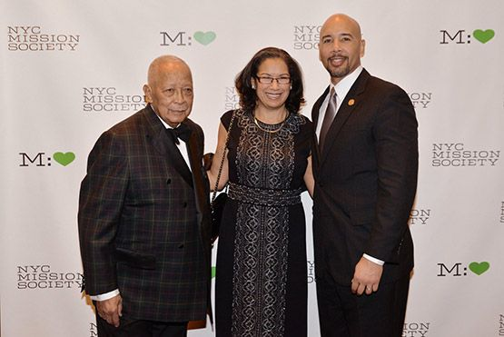 That Jacket...Former Mayor David Dinkins, Elsie McCabe Thompson, and Bronx Borough President Ruben Diaz Jr.
