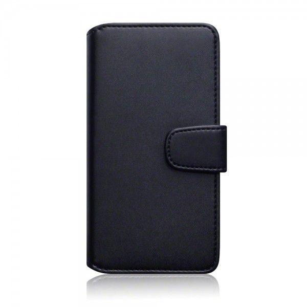 Svart läderplånbok till OnePlus X. Köp snygga fodral idag via länken: http://www.phonelife.se/mobilfodral