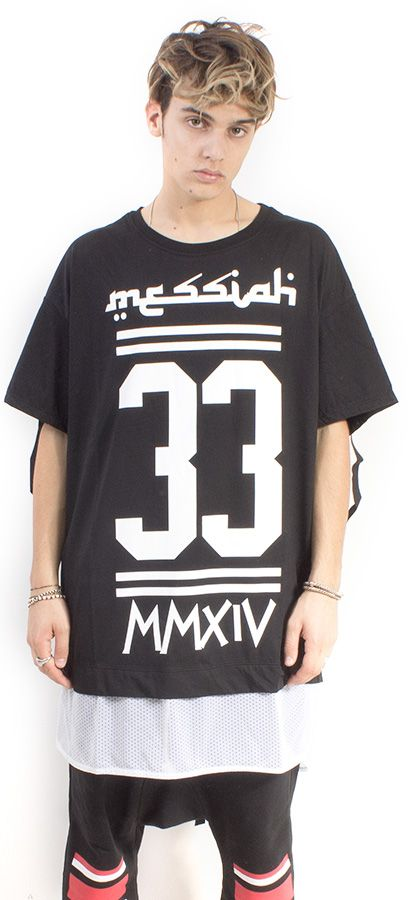 TEE OVER MAN NERO ST. MESSIAH 33 #lasaints #snts #dope #streetwear #tshirt #madeinitaly #fashion #tomaslanza #style #losangeles