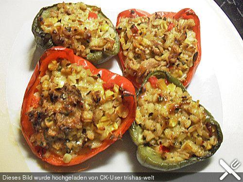 Gefüllte Paprika mit Ebly (Zartweizen) - Eblysalat zum Grillgut