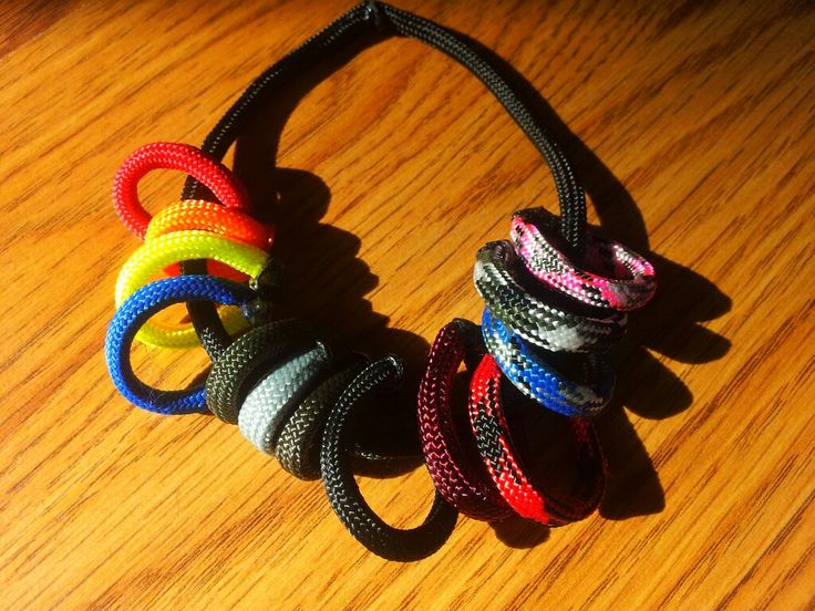 Scrap Paracord idea to keep color sample on you for customers