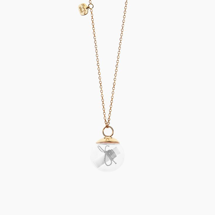 Minty dot - 100% pozytywnych emocji MY WISH - gold-plated silver necklace , My Wish , Collections