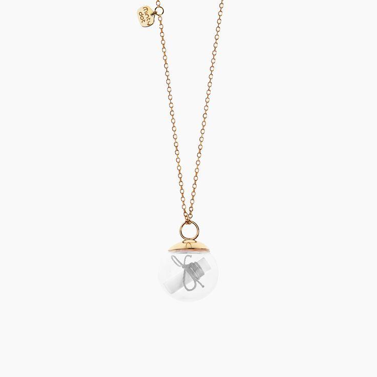Minty dot - 100% pozytywnych emocji MY WISH - gold-plated silver necklace , My Wish , Collections