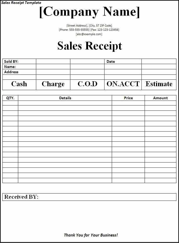 Sales Receipt Template Free Fresh Sales Receipt Template Receipt Template Free Receipt Template Template Free