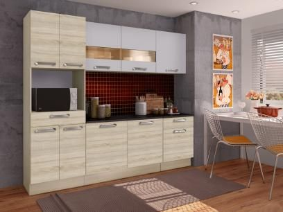 Cozinha Compacta Madesa Glamy Rubi com Balcão - 10 Portas 2 Gavetas com as melhores condições você encontra no Magazine 32darc. Confira!
