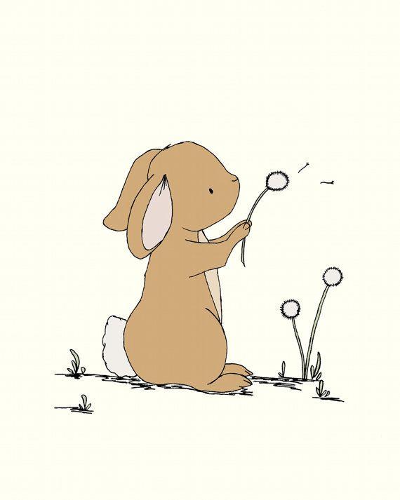 Bunny Nursery Art  Woodland Nursery  Nursery by SweetMelodyDesigns