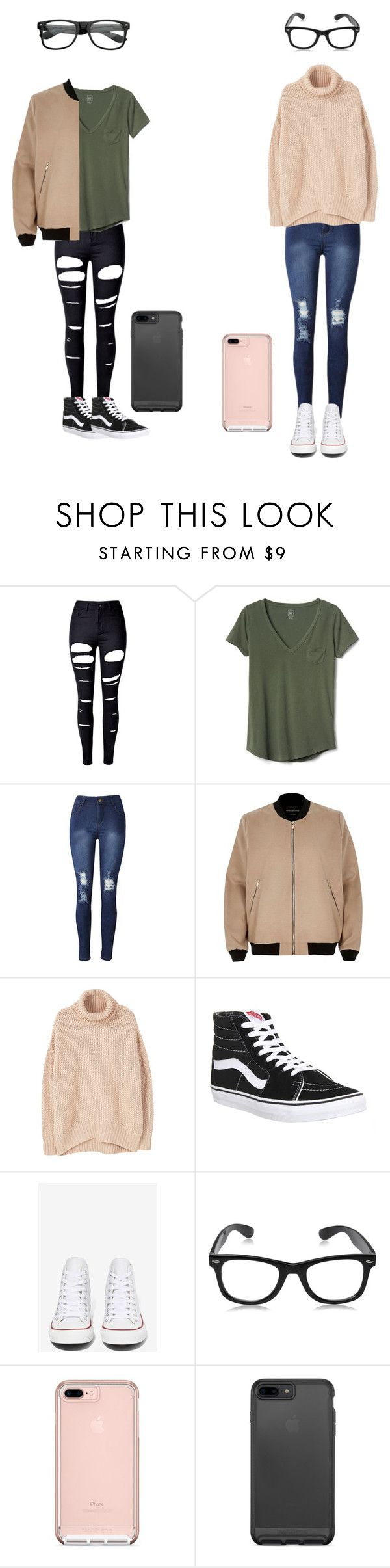 """""""Color coordinating"""" by roxas-lightwood on Polyvore featuring WithChic, Gap, River Island, MANGO, Vans and Converse"""