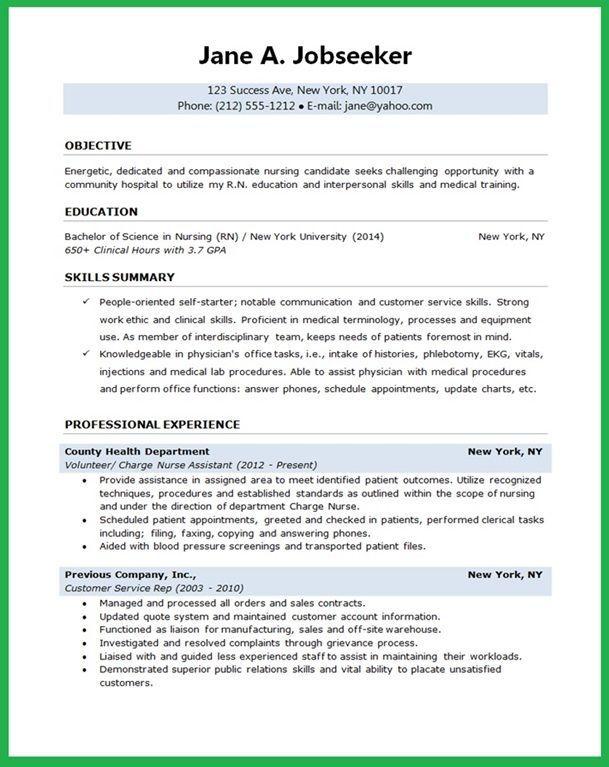 resume examples nursing student  examples  nursing  resume