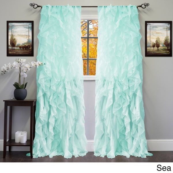 Window Curtain Design Ideas latest posts under bedroom curtain ideas N Sheer Voile Ruffled Tier Window Curtain Panel 84 Panel Sea Multi Size 50 X 84 Polyester Solid