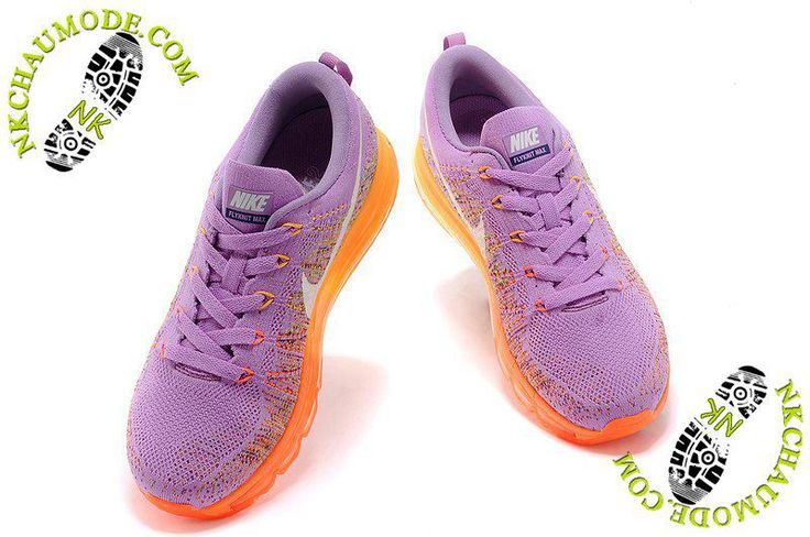 Air Max 2014 chaussure femme nike montante Pourpre/Orange