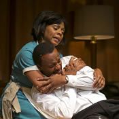 Erika LaVonn and James T. Alfred in Arizona Theatre Company's The Mountaintop.