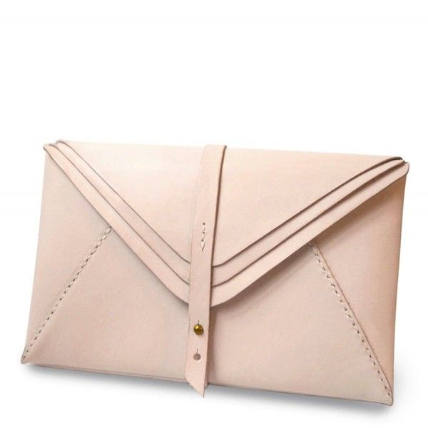 Harlex Nude Leather Multi-Envelope Clutch (830 BRL) ❤ liked on Polyvore featuring bags, handbags, clutches, purses, cream, genuine leather handbags, leather purse, pink leather handbag, real leather handbags and pink clutches