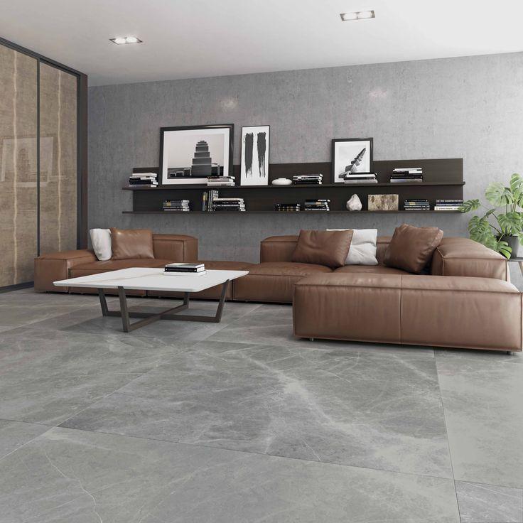 El nuevo color Gris de la colección #Storm crea ambientes tranquilos y sosegados. #porcelánico #piedra #diseño #moderno
