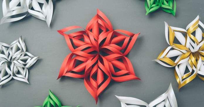 Video-Návod na 3D papírovou vločku za 5 minut