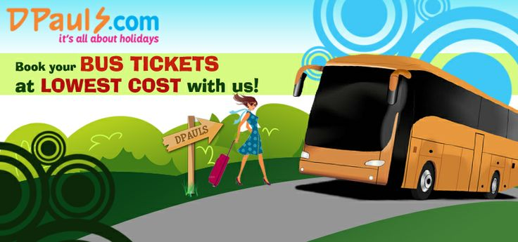 Book your #Bus #Tickets online anywhere in India at lowest cost with DPauls. We have the best bus booking offers for anywhere across India. Save time and toil and book #online NOW with #DPauls here http://dpauls.com/bus/ !