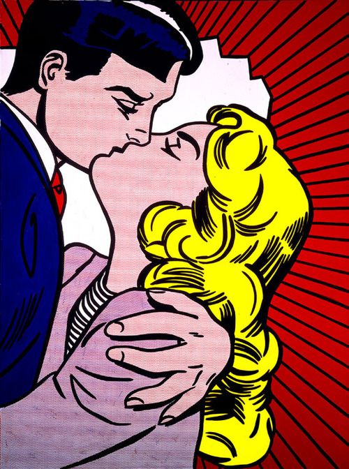 PopArtGirls. Roy Lichtenstein - Kiss III, 1962