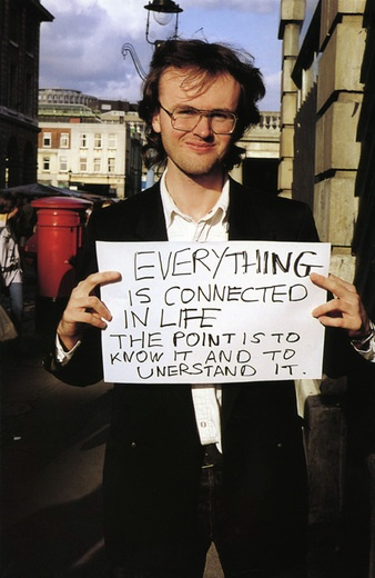 Everything is Connected -- Gillian Wearing. Gillian Wearing OBE RA (born 1963) is an English conceptual artist, one of the YBAs, and winner of the annual British fine arts award, The Turner Prize, in 1997. On 11 December 2007, Wearing was elected as lifetime member of the Royal Academy of Arts in London.