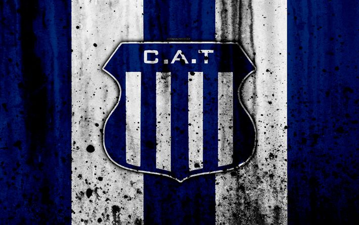 Download wallpapers 4k, FC Talleres, grunge, Superliga, soccer, Argentina, logo, Talleres Cordoba, football club, stone texture, Talleres FC