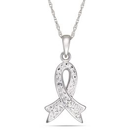 JESSICA®/MD Sterling Silver Medium Heart with Cubic Zirconia 'S Pendant | Sears Canada