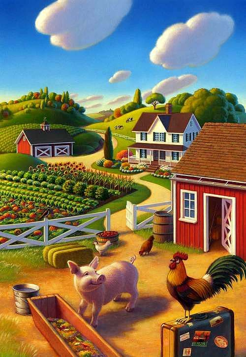 Robin Moline. Summer on the farm: levkonoe