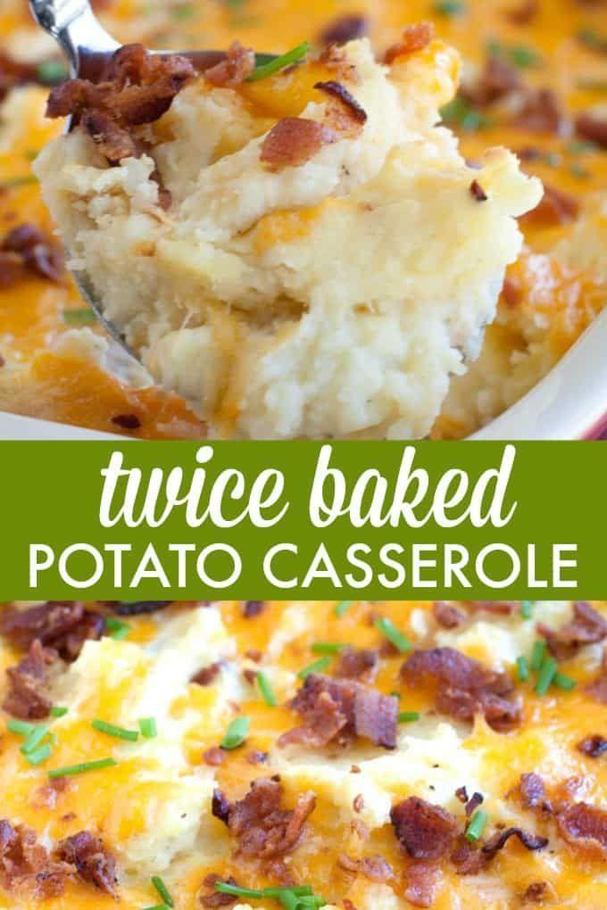 Twice Baked Potato Casserole Recipe Potatoe Casserole Recipes Easy Casserole Potato Side Dishes
