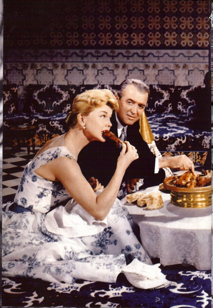 """""""THE MAN WHO KNEW TOO MUCH"""" (1956) JIMMY STEWART and DORIS DAY"""